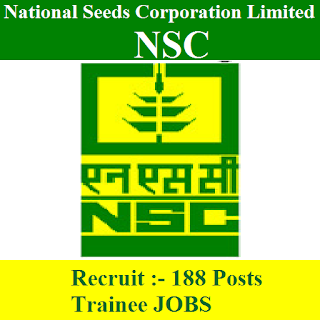 National Seeds Corporation Limited, NSC, freejobalert, Sarkari Naukri, NSC Admit Card, Admit Card, NSC logo