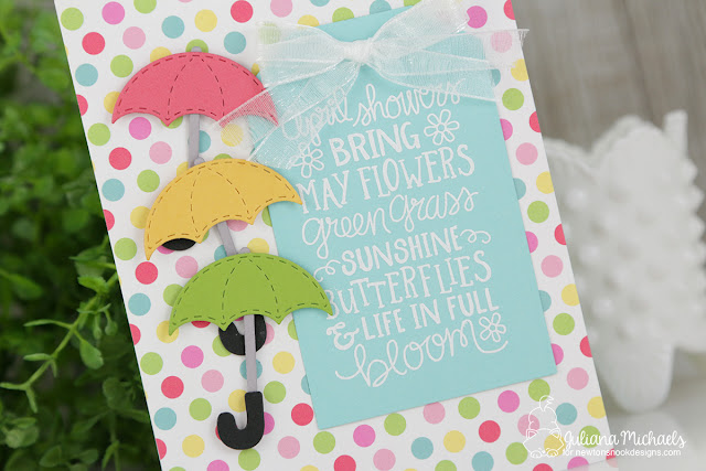April Showers Card by Juliana Michaels featuring Newton's Nook Designs April Showers Stamp Set