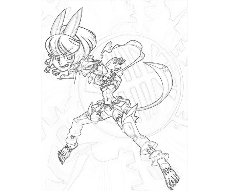 Skull girls characters coloring pages ~ Skullgirls Ms Fortune Cute | Mario