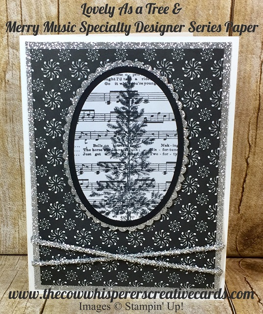 Lovely As a Tree, Card, Christmas, Merry Music Designer Series Paper