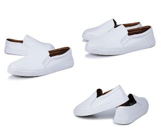 Model Sepatu Pria Korea Terbaru Warna Putih Juni 2016