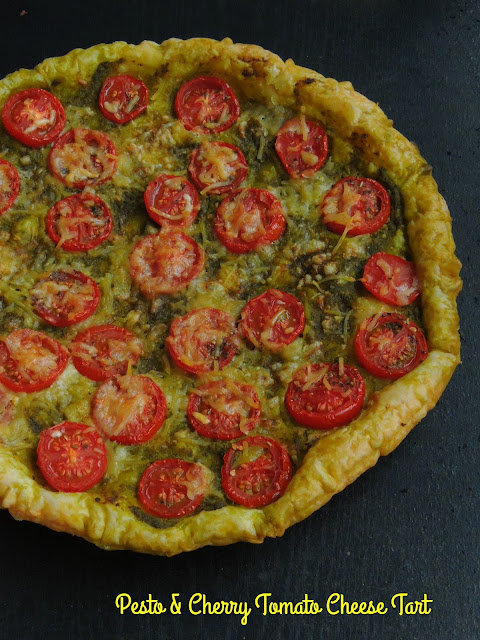 Cheesy Pesto & Cherry tomato tart.jpg