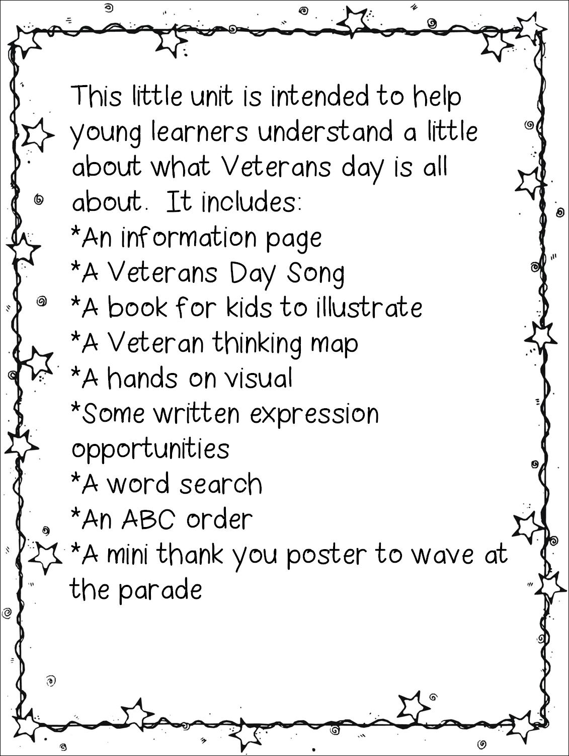 Veterans Day Unit Thank You Veterans