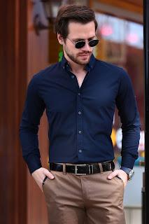 lacivert gömlekler erkek