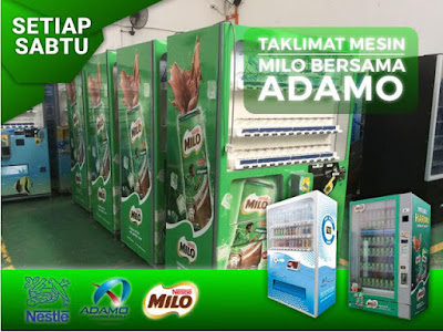 adamo vending machine milo
