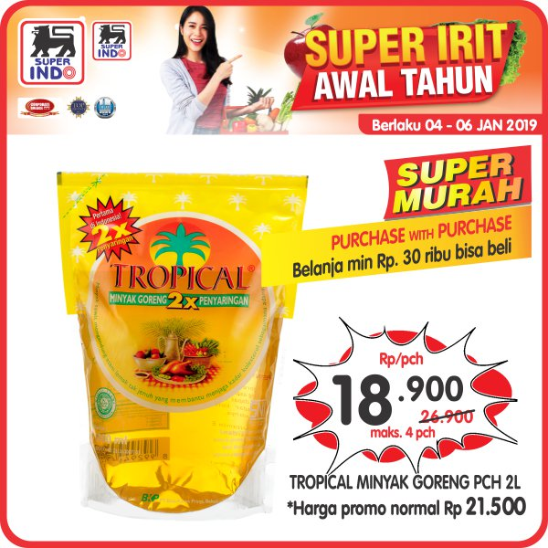 #Superindo - Promo Super Murah Minyak Tropical 2L 18K Purchase With Purchase