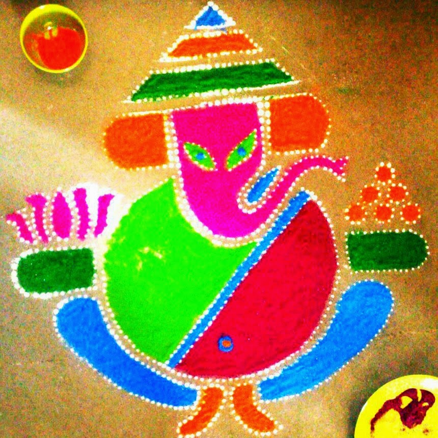 Rangoli Design for Dussehra