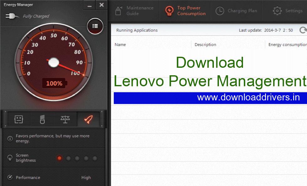 Download Lenovo Energy management software
