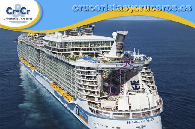 """► Harmony of the Seas, premiado como el """"Mejor barco en el Mediterráneo"""" en los Premios Excellence de Cruceros."""