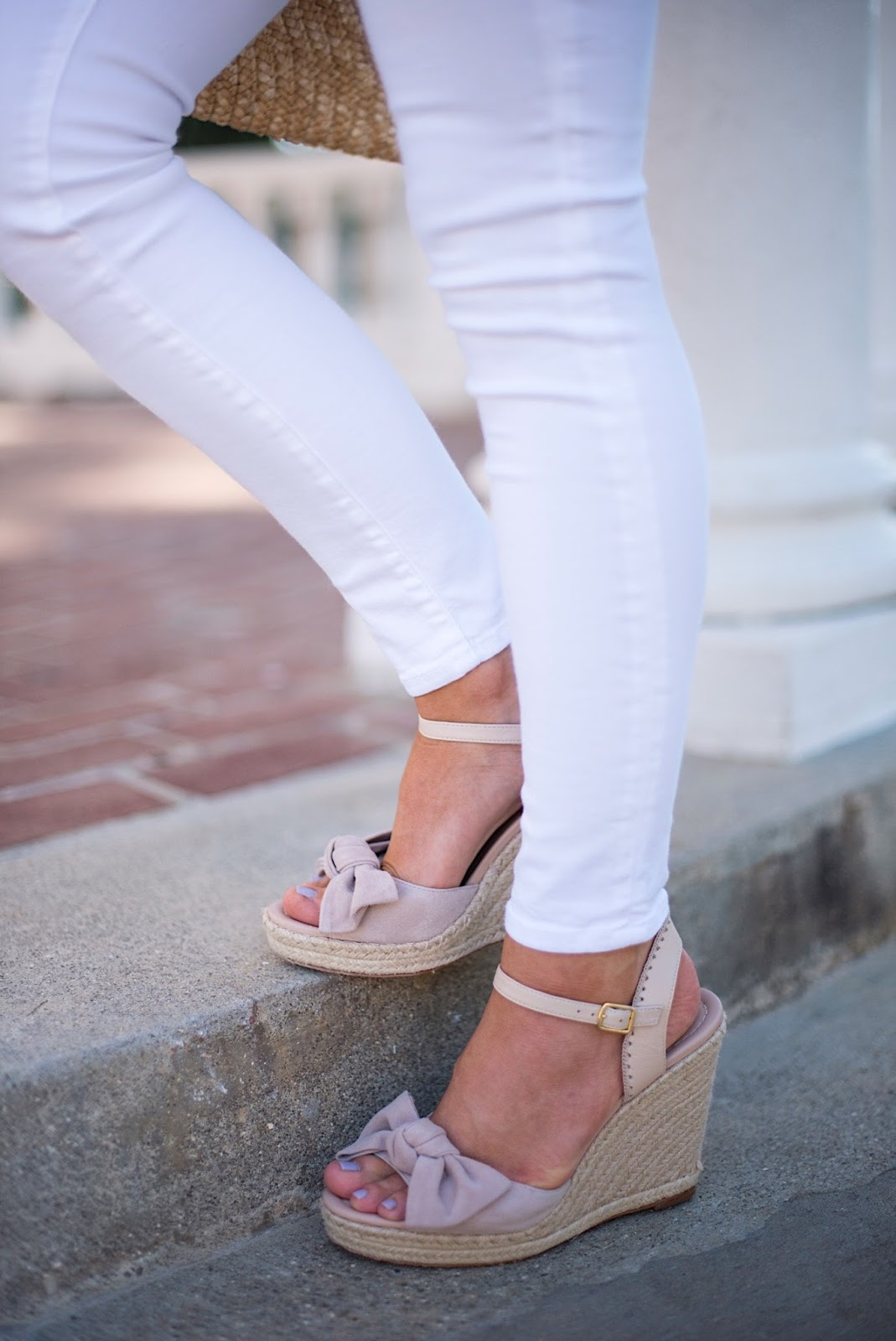Kate Spade Bow Wedges - Click through to see more on Something Delightful Blog