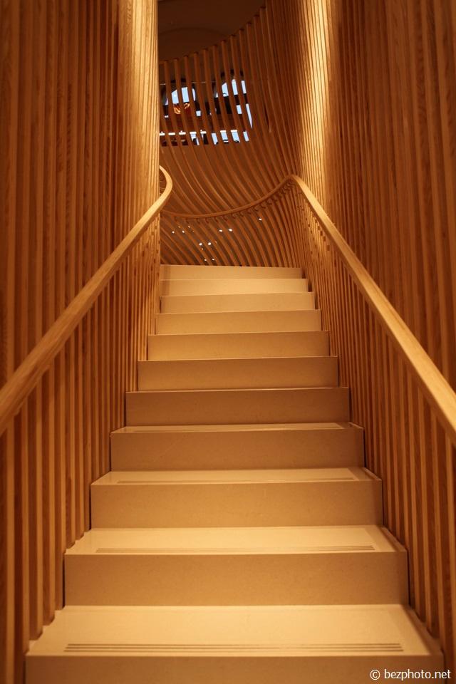 необычные деревянные лестницы