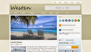 Western Free Blogger Template