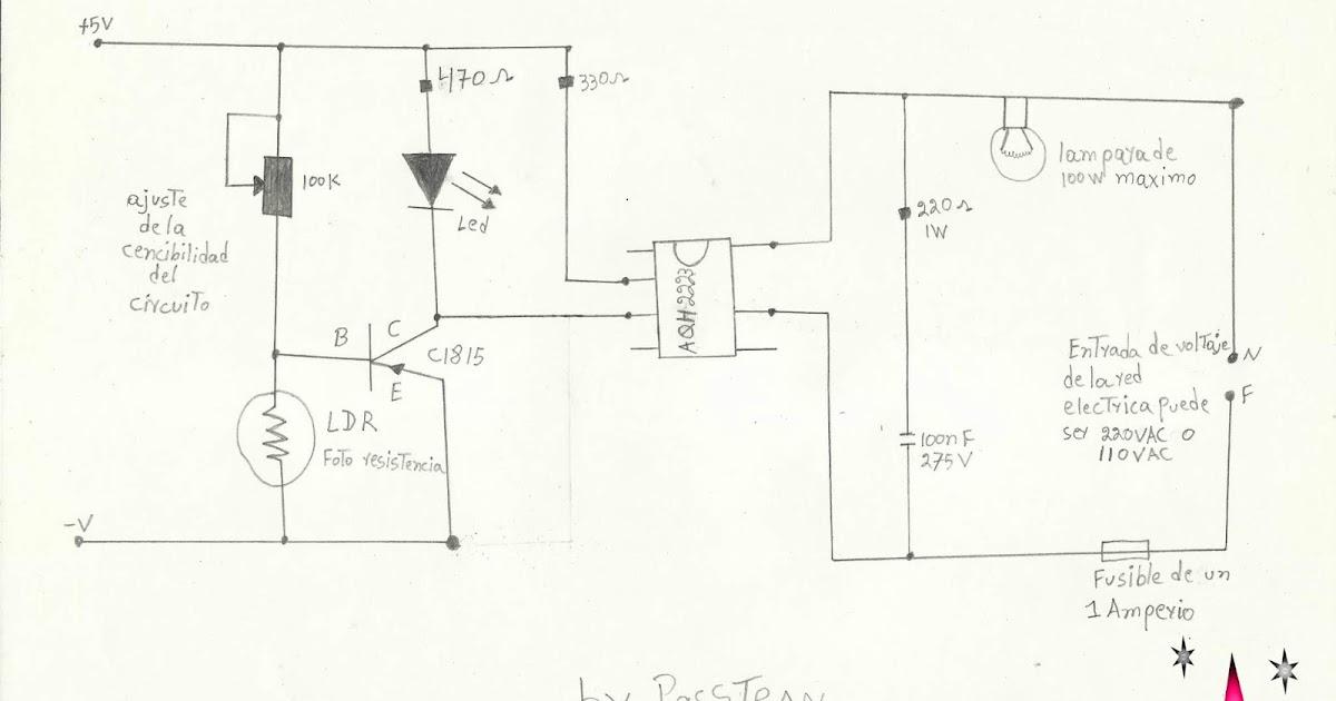 ponyelectronica   peque u00f1o circuito detector de oscuridad para una luz nocturna autom u00e1tica casera