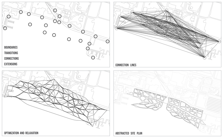 Details of path optimization for 3D Printed Building