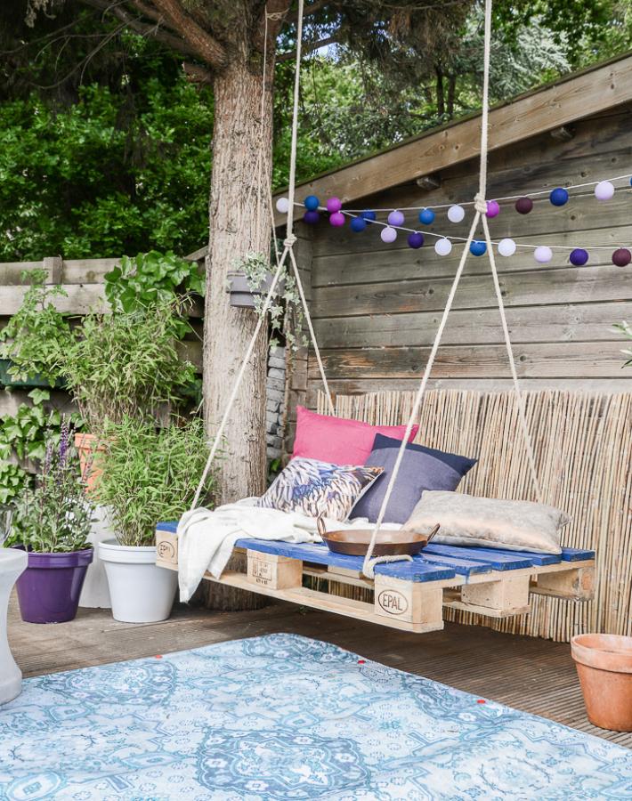 Muebles de palet para terrazas lowcost