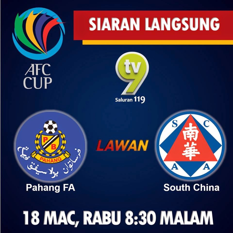 Live streaming Pahang Vs South China 18 Mac 2015