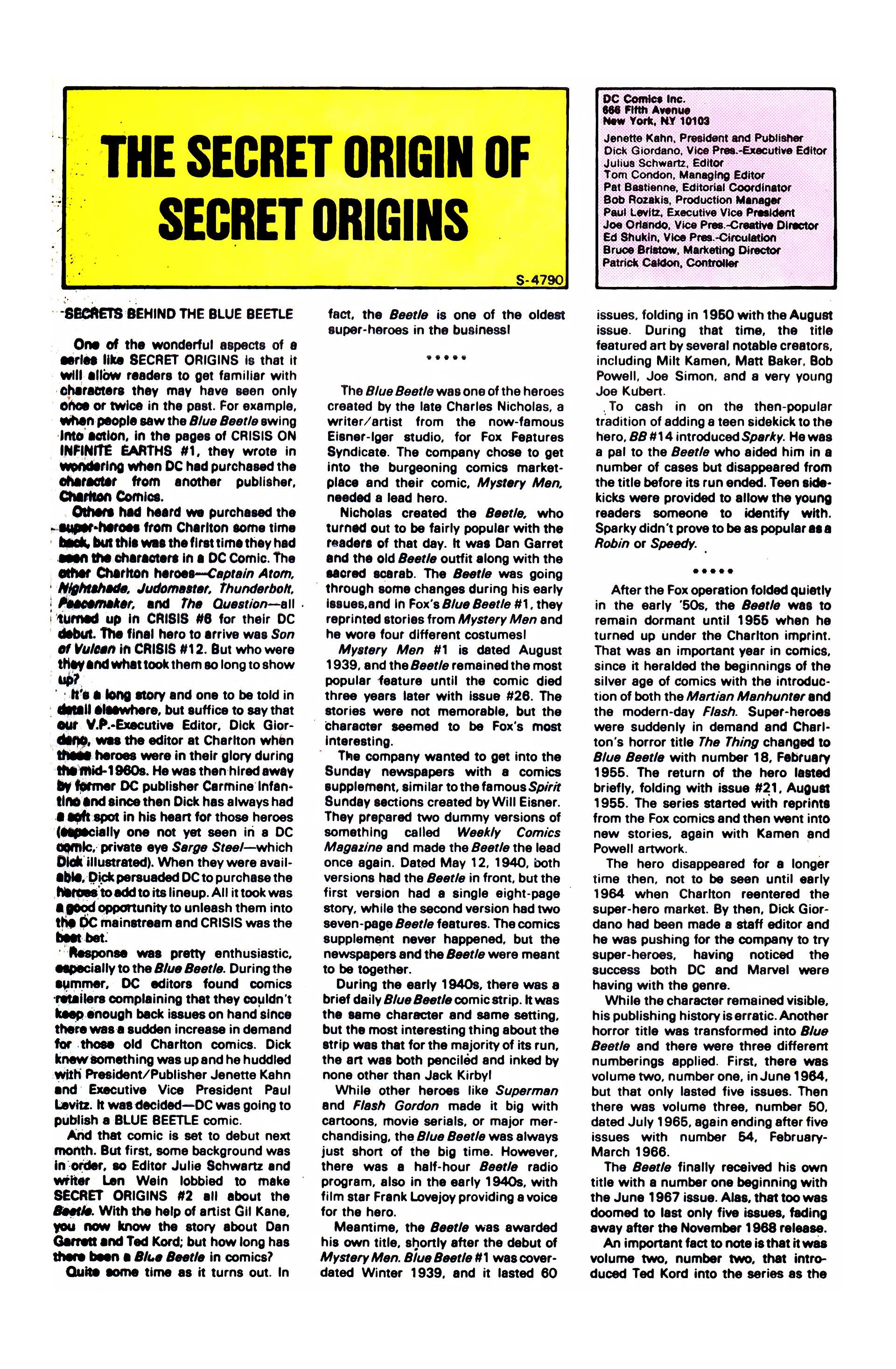 Read online Secret Origins (1986) comic -  Issue #2 - 32