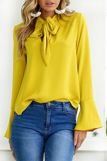 yoins yellow top
