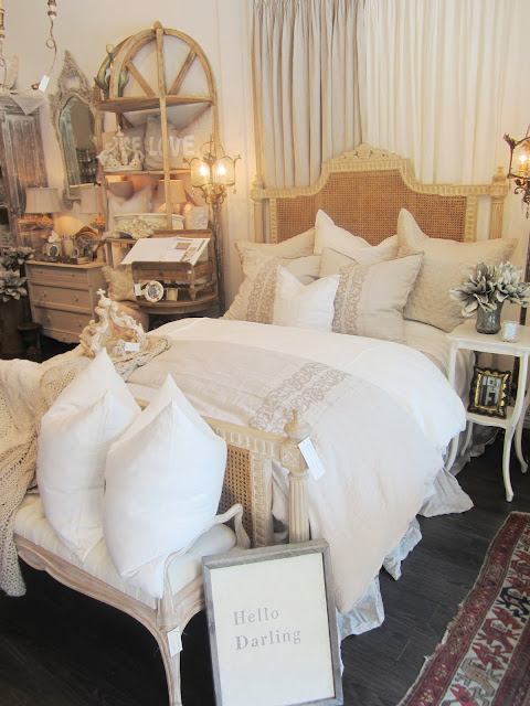 Pom Pom Interiors' bed setting with organic, natural linens