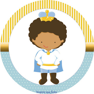 Afro Prince Toppers or Free Printable Candy Bar Labels.