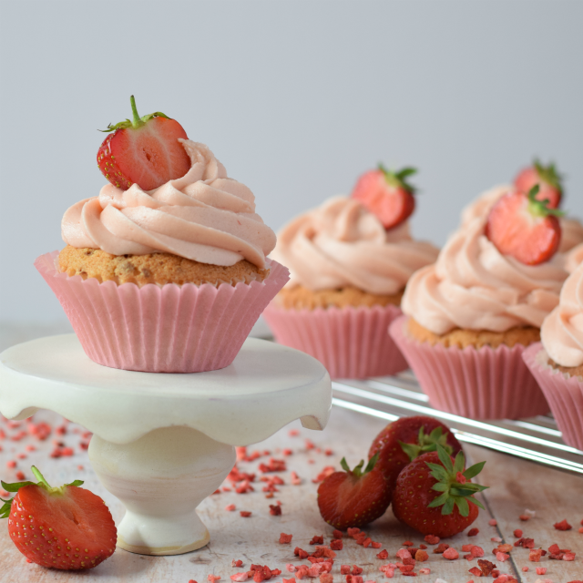 How to make Strawberry Cupcakes finished with a homemade strawberry frosting