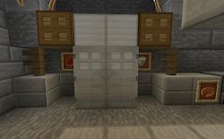 minecraft fridge kitchen food functional projects dispense melon buttons doors left open right