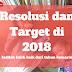 Resolusi dan Target di 2018
