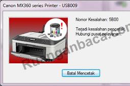 Begini cara memperbaiki error 5B00 pada printer canon