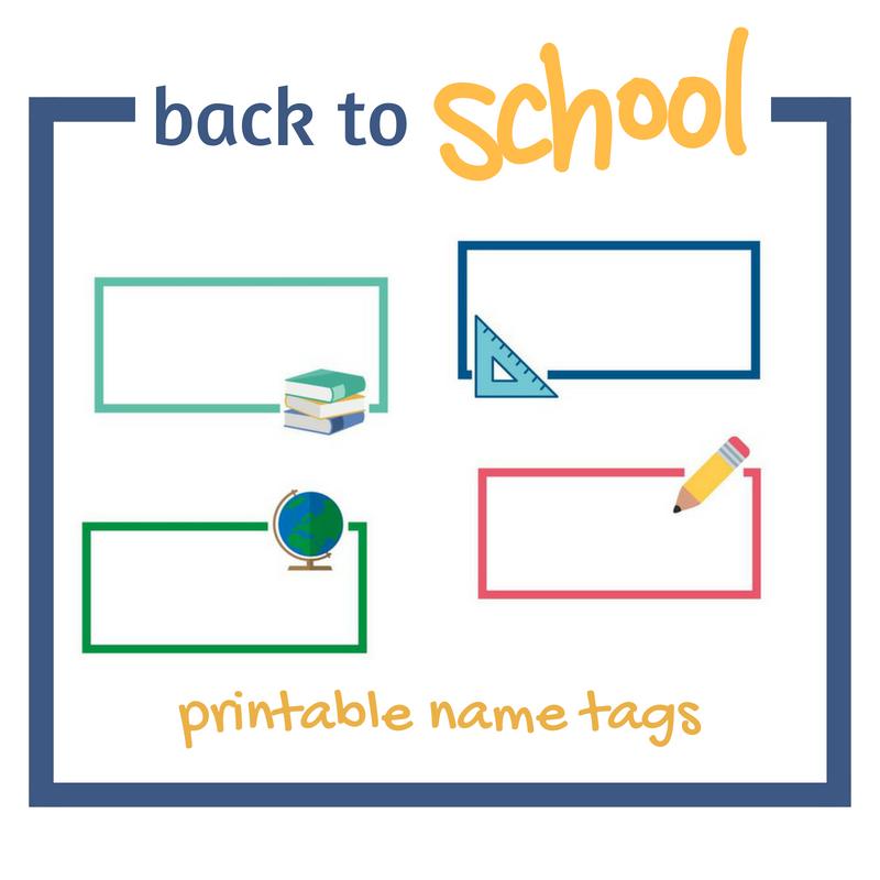 back to school printable name tags