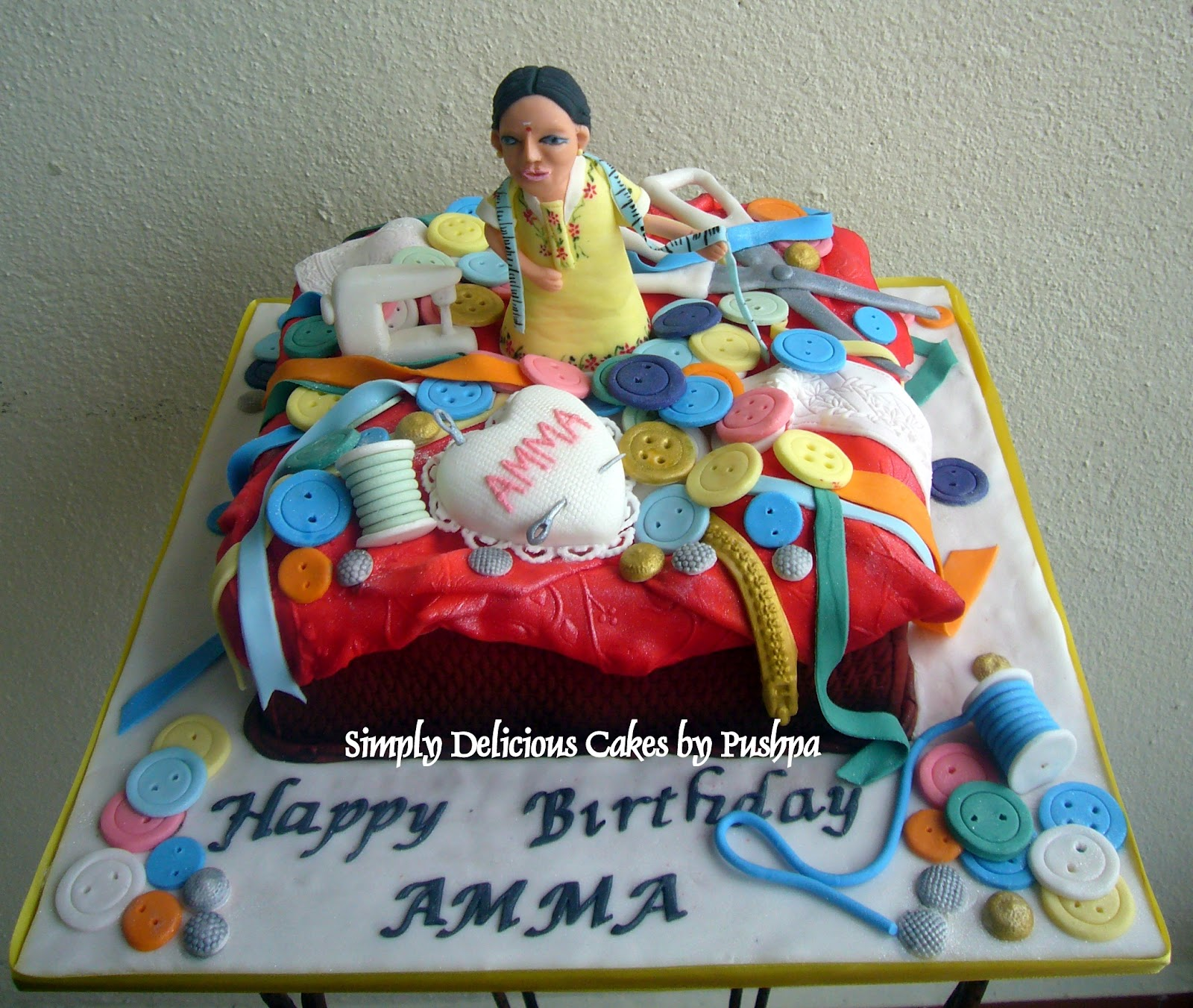 SIMPLY DELICIOUS CAKES Sewing Basket Cake For Mom