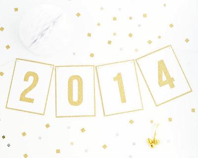 Manualidades de Año Nuevo: Guirnalda 2014