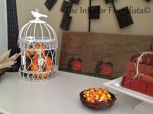 DIY Fall harvest sign