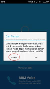 bagaimana cara buat akun bbm di android