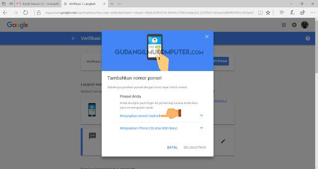 Melindungi Akun Gmail dengan Mengaktifkan Verifikasi 2 Langkah