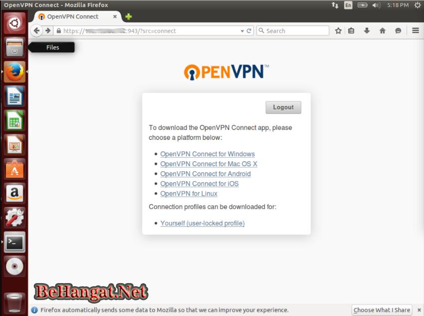 Cara Membuat Akun OpenVPN Connect - BeHangat.Net
