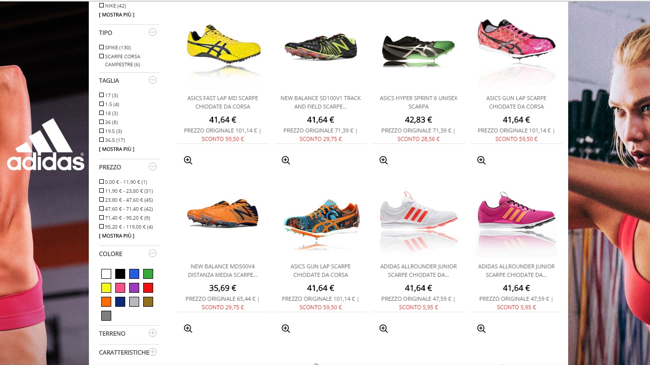 cheaper 0c576 75b9a Sito inglese di prestigio, Sport Shoes, dà al cliente una vasta scelta,  soprattutto per quanto riguarda i modelli da media distanza, dagli 800m ai  1500m ...