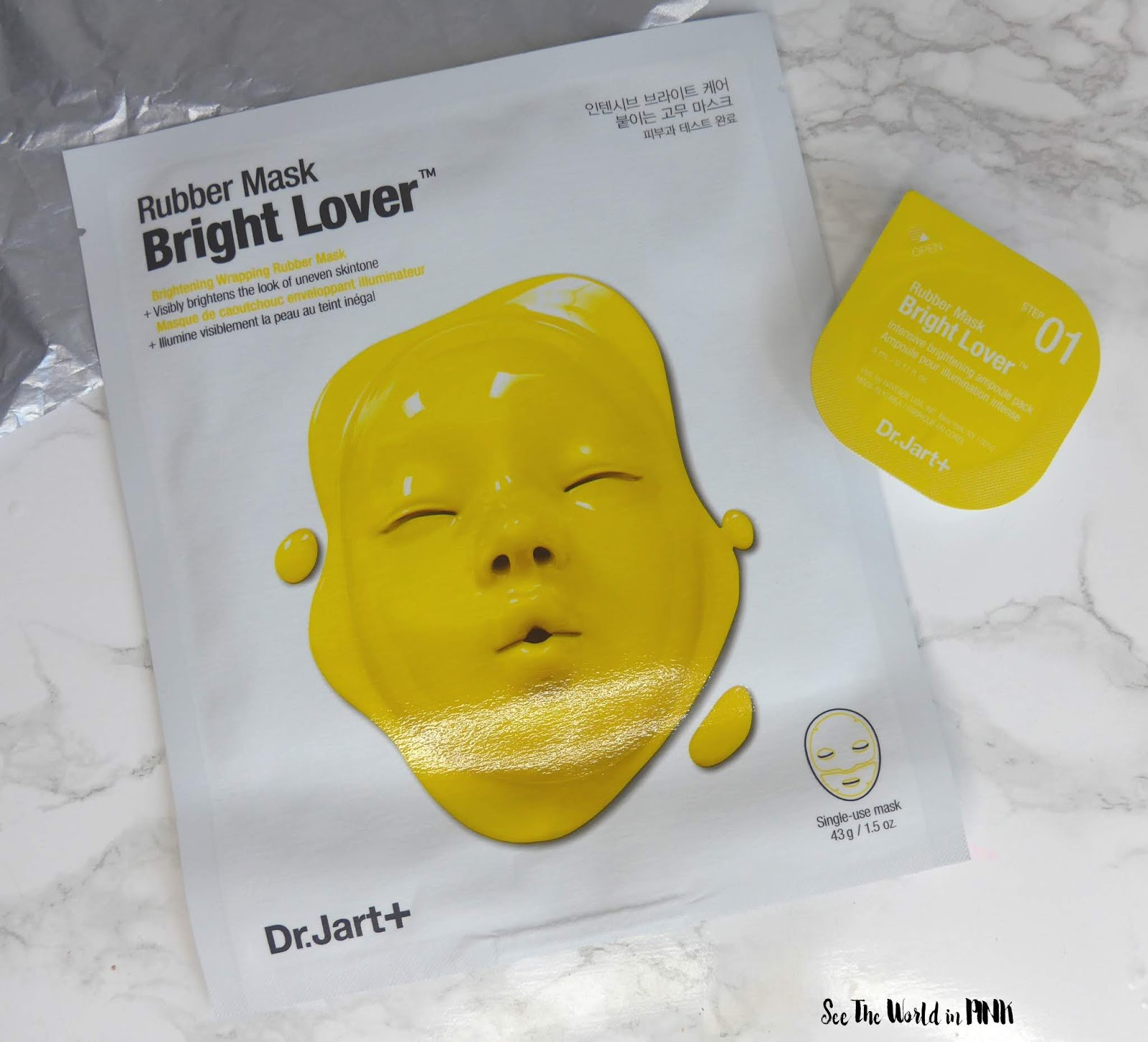 Skincare Sunday #CBBGetsSheetFaced Week Four Recap with Reviews - Dr Jart Bright Lover Rubber Mask