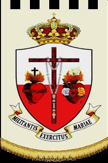 Estandarte del Reinado de los Sagrados Corazones Unidos de Jesús y de María.