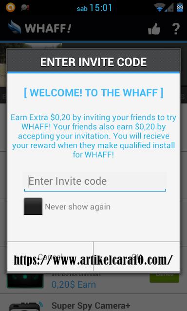 cara dapat uang di whaff