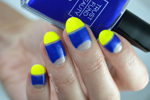 Negative space nails bright Olympics edgy video tutorial