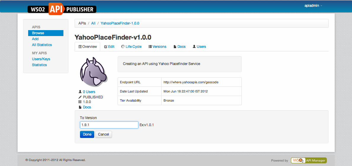 How to version APIs in WSO2 API Manager? | Sumedha's blog