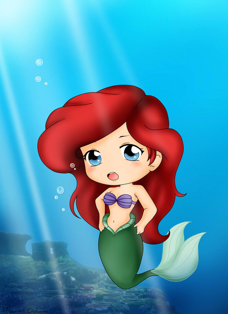 princess Ariel chibi Nàng tiên cá công chúa Ariel 3