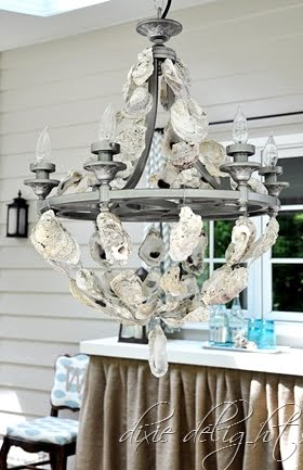 Fancy Diy Oyster Shell Chandelier
