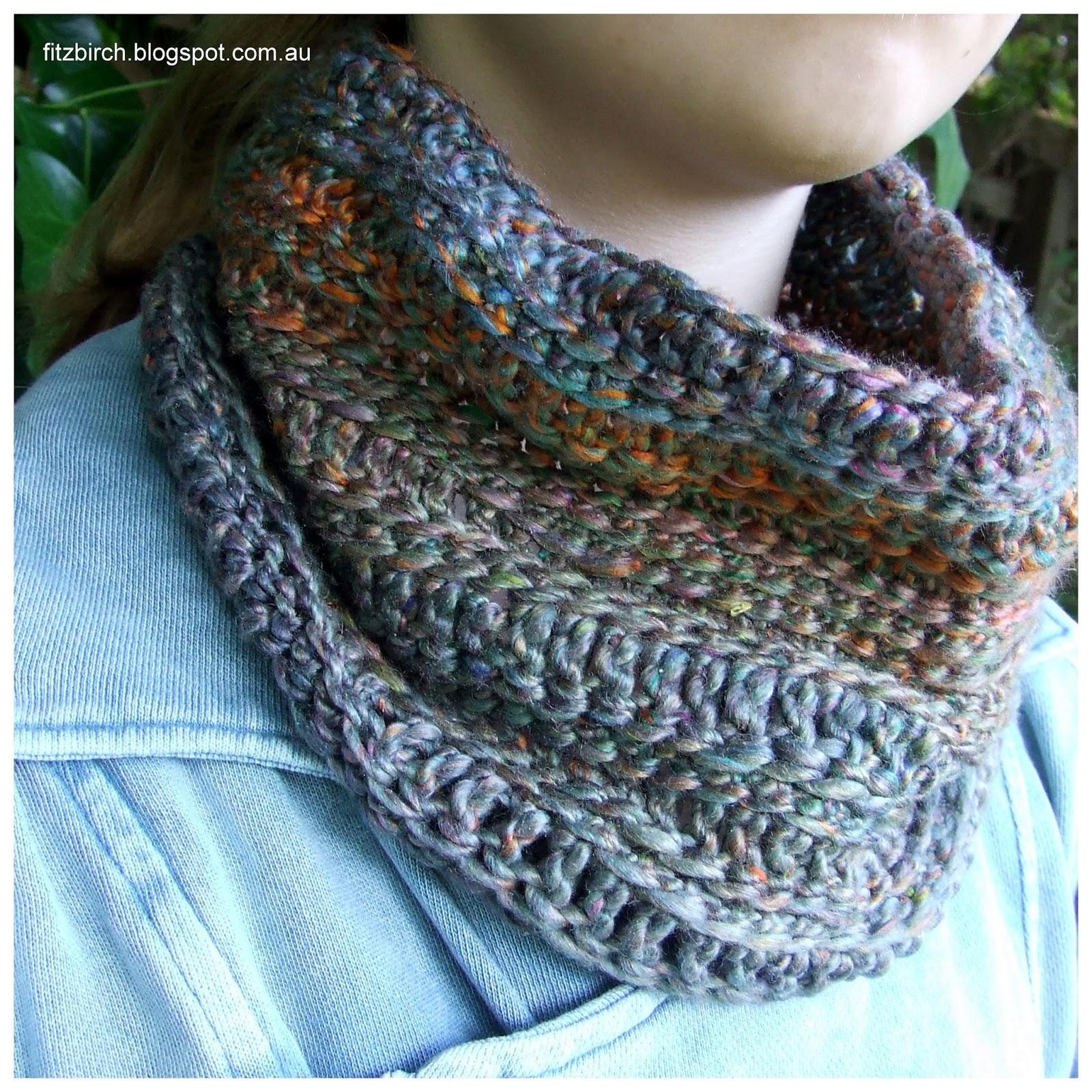 FitzBirch Crafts: Sari Silk Crochet Cowl