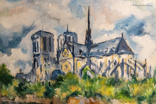 Óleo Catedral Notre Dame, París por El Guisante Verde Project