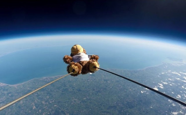 School children made Teddy bear reaches 100,000ft into space