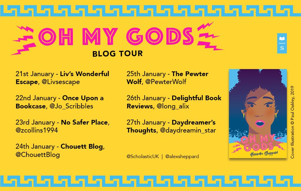 Oh My Gods by Alexandra Shepphard Blog Tour Banner