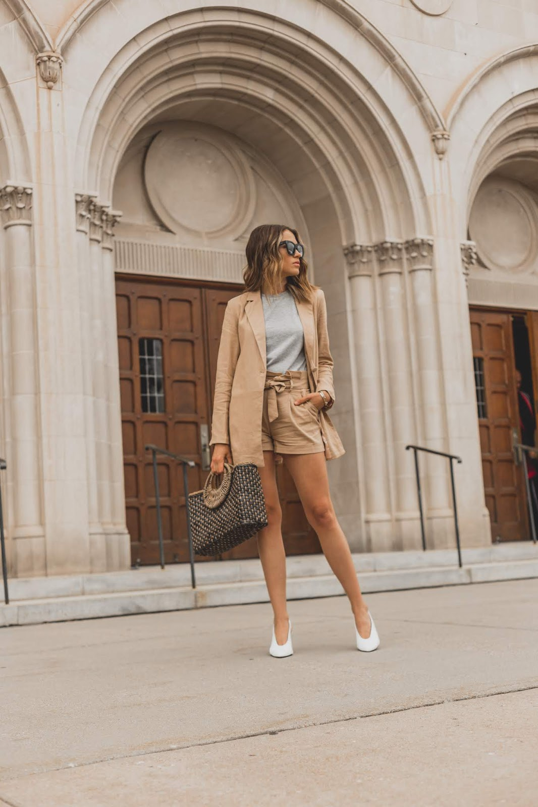 The Perfect Shorts and Blazer Suit Set featured by popular Colorado fashion blogger, Leah Behr