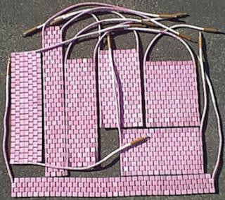 Ceramic mat heaters