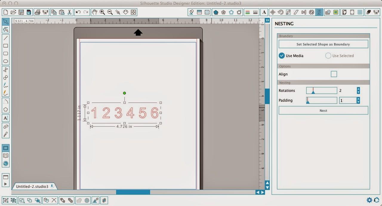 Nesting tool, Silhouette Studio, pro, Silhouette tutorial, numbers